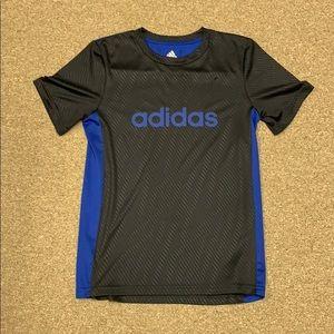 Black and blue boys medium 10-12 Adidas shirt